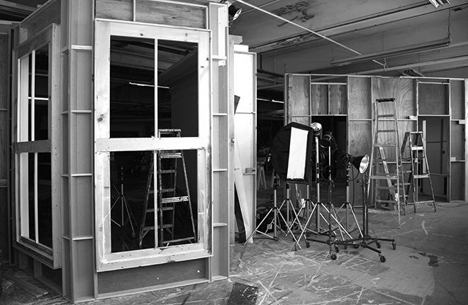Mayo Studios Set Building process House Sets